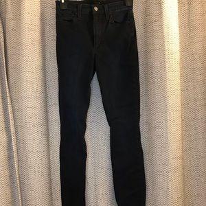 Joe's high rise black skinny jeans